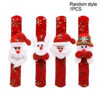 4 x Children Christmas Bracelet Slap Snap On Ring Wrist Kids Gifts Party Toy G