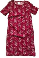 NEXT Summer RASPBERRY PINK Floral Linen Blend Shift Dress Tunic 6 - 26