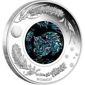 2012 - Australia $1  Wombat Opal series 1 oz .999 silver Proof coin w/ all OMP