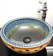 Round Bathroom Cloakroom Ceramic Counter Top Wash Basin Sink Washing Bowl  Manc