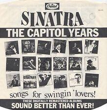 """Vintage INNER SLEEVE or SLEEVES 12"""" EMI ADVERTISING Capitol BAG 591 SINATRA x 1"""