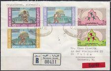 1970 Kuwait Express-R-Cover to Germany, FARWANIYA, Palestine Palästina [bl0220]