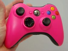 Official Microsoft XBox 360 PINK/Black Wireless Controller game gaming hand oem
