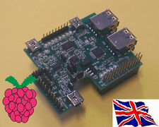 Rs-pi 4P HUB USB-MULTIFUNZIONE I2C A / D D / A RTC RS232 Board per Raspberry Pi