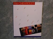 1986 Chevrolet Corvette Camaro Etc Sales Catalog Mailer