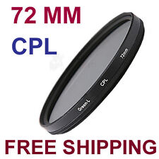 72 mm 72 CPL CIR-PL Circular Polarizing Lens (CPL) Filter , Black