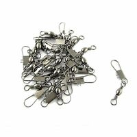 BARREL SWIVEL WITH SNAP SIZE 1/0 EAGLE CLAW 100 LB TEST 50 PCS FREE USA SHIPPING
