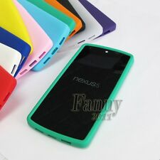 pure Gel Rubber soft Silicone Green Cover Skin Case for LG D820 , Google Nexus 5