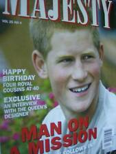 Majesty Magazine V25 #4 Harry Charity Work In Lesotho, Royals Turning 40, The Ro