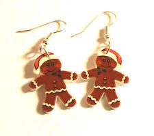 Gingerbread Man Earrings Gingerbread Santa Charms