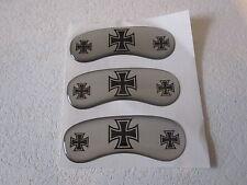 Bremssattel Cover für Harley: drei Bremszangen,Touring,V Rod,Silber Iron Cross