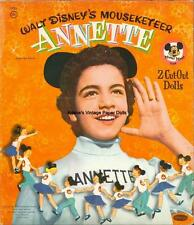 Vintge 1956 Annette Mouseketeer Paper Doll Hd Laser Repro~Lo Price~Hi Q~Top Sl