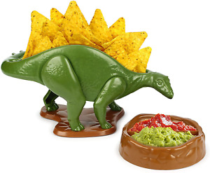 NACHOsaurus Dip And Snack Dish Set For Children Teens Dino Lovers Serving Tray