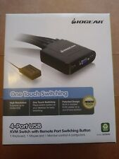 IOGEAR 4-Port USB Cable KVM Switch w/ Remote Port Switching Button (GCS24U)