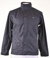 NIKE Mens Windbreaker Jacket Size 40 Large Black Slim Fit  NO15