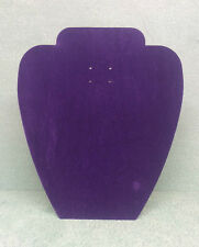 Set of 10 Jewellery Display Card Busts [A] Purple Suede
