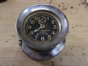 Vintage US Navy Boat Clock MARK I Seth Thomas Dated 1941 - project