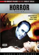 New: CLASSIC HORROR MOVIE COLLECTION - 12 Film 4-Disc DVD Box Set