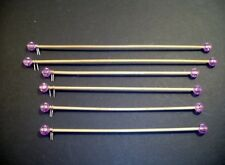 6  Miniature Wooden Curtain Rods for Dollhouse or Room Box -Handmade
