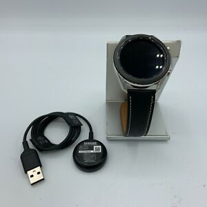Samsung Galaxy Watch3 Cellular Silver Stainless Steel 45mm + Black Leather 7/10