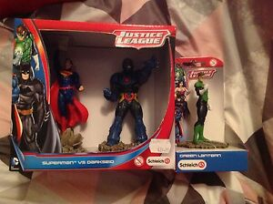 Schleich Superman vs Darkseid Pack & Green lantern NEW Justice League