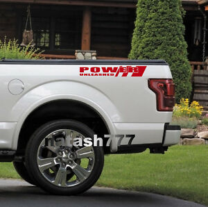 POWER UNLEASHED FORD Truck F150 F250 F350 Dually XLT XL 4x4 Decal sticker RED