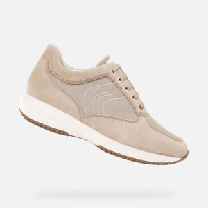 GEOX U HAPPY G U4162G Scarpe Uomo Sneakers Stringate Camoscio Tela Sabbia
