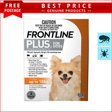 Frontline Plus for Dogs 3 Doses Up to 10 Kg ORANGE Pack by Merial
