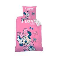 Biber Bettwäsche Disney Minnie Mouse 80 x 80 cm / 135 x 200 cm Flanell