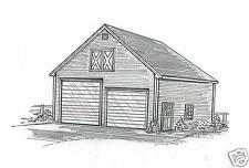 30 x 40 Two Bay FG /RD RV Garage Building Plans