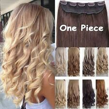 Unbranded clip in synthetic straight hair extensions ebay real thick 1pcs clip in 34 full head hair extensions extension as human hair pmusecretfo Choice Image