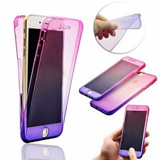 For iPhone 5c 360 degree Front and Back Full Body TPU Silicone Gel Case Cover