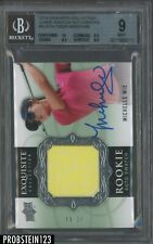 2013 UD Exquisite Golf Michelle Wie RC Rookie Jersey AUTO 45/99 BGS 9 w/ 10