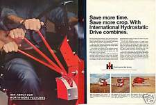 1968 International Harvester IH 315 403 & 503 Combine Tractor 2 Page Print Ad