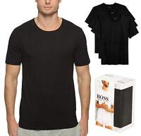 Hugo Boss Men's 3 Pack Pure Cotton Shirt Regular Fit Crew Neck T-Shirt 50325385