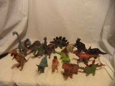 Lot Of 15 Plastic Toy Dinosaurs Brontosaurus Stegosaurus Etc 3 In To 13 In
