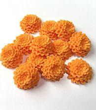 12 Edible Sugar Orange Chrysanthemums Spring Wedding Flowers Cake Decorations