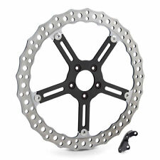"Arlen Ness Left Side Rotor Wave 15"" Big Brake Kit Disc 00-14 Harley Softail Dyna"
