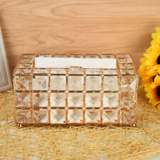 Square Crystal Tissue Box Toilet Paper Cover Case Napkin Holder Home Car Decor