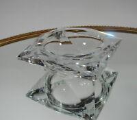 Val Saint Lambert Aschenbecher Ashtray Kristall Glas signiert Belgien Art Deco
