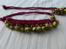 Bellydance Middle East Ankle Bells Maroon Costume Gypsy