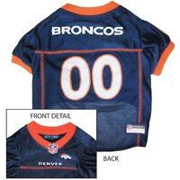 Denver Broncos Licensed NFL Pets First Dog Pet Mesh Jersey, Blue NWT