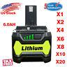 Replacement Ryobi ONE+ PLUS 18V 6.0Ah Battery P108 P104 P107 P102 Lithium Tools