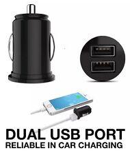 TWIN Dual USB MINI 2 PORT CARICATORE AUTO Auto ADATTATORE 12v UNIVERSALE SAMSUNG GALAXY