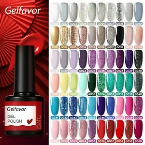 Gelfavor 8ml Gel Nail Polish Glitter For Manicure set nail art Semi platium UV