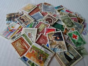 Collection lot 100 different large stamps of Portugal