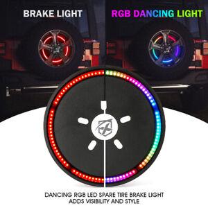"""14"""" RGB 3rd Tire Brake Lights Spare Wheel Light for 2007-2018 Jeep Wrangler JK"""