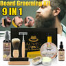 9 x Men Beard Grooming Care Kit Shampoo Oil Balm Brush Comb Hair Gift Set