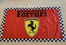 "FERRARI FLAG BANNER  ITALIAN STYLE car 5 X 3"" FT / 150 X 90CM"