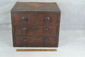 period drawers chest sm 14x12x12 dovetail case grain paint 19th c original best